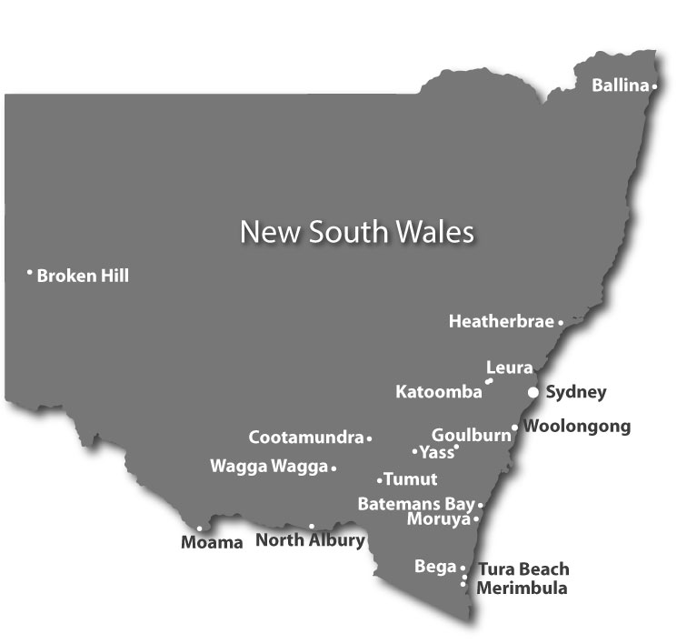 Pioneer Facility Services Sites in New South Wales