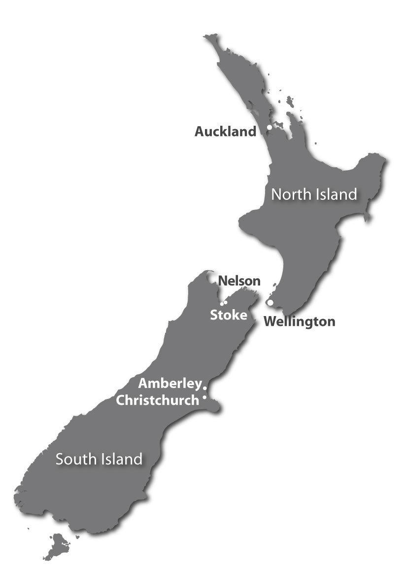 Pioneer Facility Services Sites in New Zealand