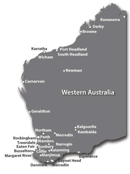 Pioneer Facility Services Sites in Western Australia